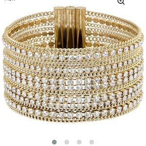 Swarovski wide bracelet